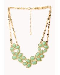 Forever 21 | Metallic Bejewled Bib Necklace | Lyst