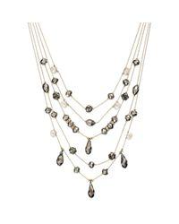 INC International Concepts | Metallic Goldtone Hematite Bead and Crystal Fireball Illusion Necklace | Lyst