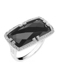 Ivanka Trump | Metallic Patras 18K Horizontal Black Onyx Ring With Deco Diamonds | Lyst