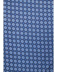 Kiton - Blue Medallion Scarf for Men - Lyst