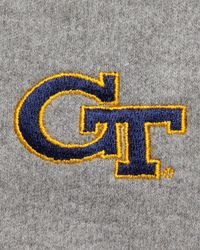 Peter Millar | Gray Gameday Georgia Tech 1/4-zip Fleece Pullover for Men | Lyst