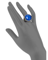 Stephen Webster - Blue Agate Quartz Crystal Sterling Silver Ring - Lyst