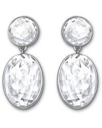 Swarovski | Metallic Vanilla Pierced Earrings | Lyst