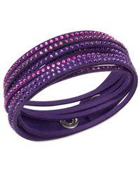 Swarovski | Purple Slake Bracelet | Lyst