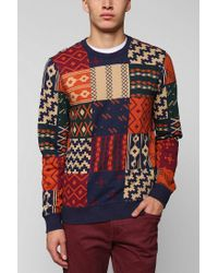 Urban Outfitters | Multicolor Character Hero Block Geo Pullover Sweatshirt for Men | Lyst