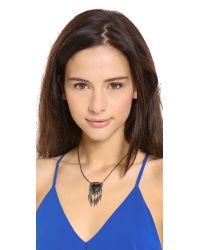 Alexis Bittar - Black Santa Fe Deco Fringed Shield Necklace - Lyst