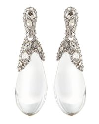 Alexis Bittar | White Pave Crystal Lucite Drop Earrings | Lyst