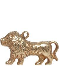 Annina Vogel | Metallic Vintage 9ct Gold Lion Charm | Lyst