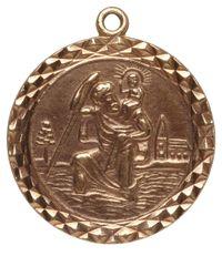 Annina Vogel | Metallic Vintage 9ct Gold St Christopher Charm | Lyst