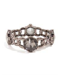 BaubleBar - Metallic Crystal Looking Glass Link Bangle - Lyst