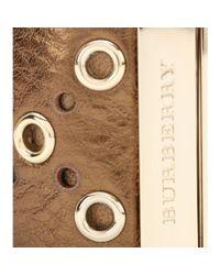 Burberry | Metallic Leathercoated Cuff | Lyst