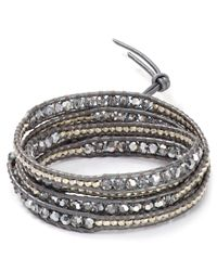 Chan Luu | Gray Beaded Wrap Bracelet | Lyst