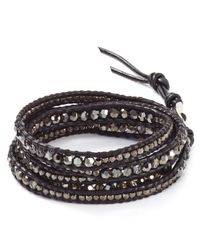 Chan Luu - Metallic Five Wrap Silver Night Bracelet - Lyst