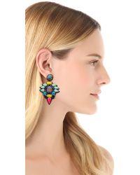 Deepa Gurnani - Multicolor Colorful Stone Earrings - Lyst