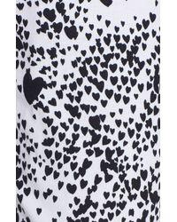 DKNY | Black Logo Top And Printed Pant Pj Set | Lyst