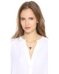 Elizabeth and James - Metallic Apollo Pendant Necklace - Gold/Amazonite - Lyst