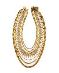 Erickson Beamon | Metallic Velocity Collar Necklace Gold | Lyst