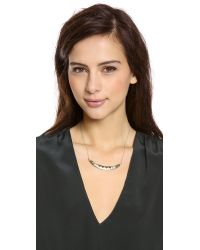 House of Harlow 1960 - Metallic Cusco Crescent Pendant Necklace - Lyst