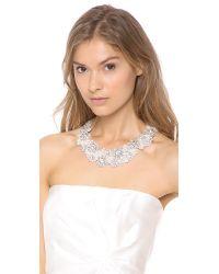 Jenny Packham - Metallic Fiori Necklace - Lyst