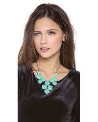 kate spade new york - Blue Shaken Stirred Statement Necklace - Lyst