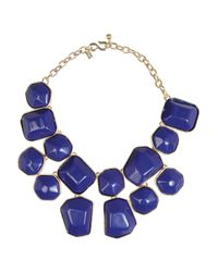 Kenneth Jay Lane | Blue Goldplated Resin Necklace | Lyst