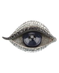 Lanvin - Blue Right Eye Brooch - Lyst