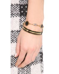 Marc By Marc Jacobs - Metallic Enamel Striped Bangle Bracelet - Lyst