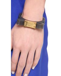 Marc By Marc Jacobs - Black Jelly Bow Bangle Bracelet - Lyst