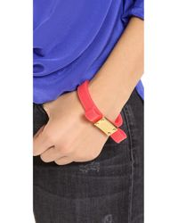 Marc By Marc Jacobs | Red Jelly Bow Bangle Bracelet | Lyst