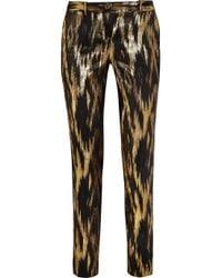 Michael Kors - Samantha Metallic Ikat Jacquard Pants - Lyst