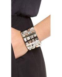 Michael Kors - Metallic Tri Tone Pyramid Stud Bracelet - Lyst