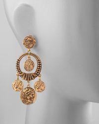 Oscar de la Renta - Metallic Coin Drop Earrings - Lyst