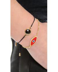 Tai | Black Center Stone Bracelet | Lyst
