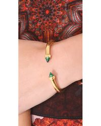 Vita Fede - Metallic Mini Luciano Bracelet - Gold/green - Lyst