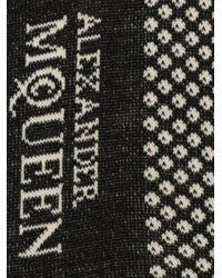 Alexander McQueen - Black Skull Socks for Men - Lyst