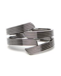 BaubleBar - Gray Ridged Bangle - Lyst