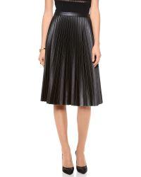 BCBGMAXAZRIA - Black Pleated Skirt - Lyst