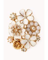 Forever 21 | Multicolor Elegant Floral Cluster Studs | Lyst
