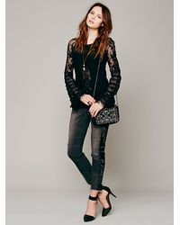 Free People | Black Ruffled Whimsy Top | Lyst