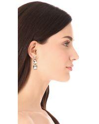 kate spade new york - Metallic Shaken Stirred Graduated Linear Earrings - Lyst