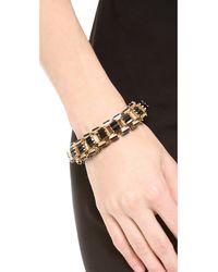 Lee Angel | Black Crystal Baguette Box Link Bracelet | Lyst