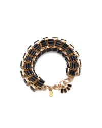 Lee Angel - Black Crystal Baguette Box Link Bracelet - Lyst