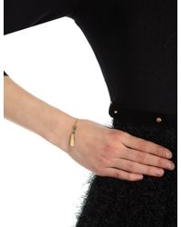 Sarah Chloe | Metallic Gold Plated Leigh Id Bracelet | Lyst