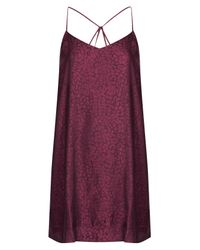 TOPSHOP | Purple Animal Pattern Layered Slipdress | Lyst