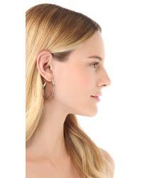 Alexis Bittar   White Antibes Textured Crystal Hoop Earrings   Lyst