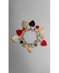 Burberry | Red Heart Charm Bracelet | Lyst