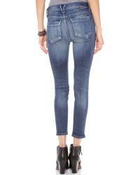 Goldsign - Blue Glam Skinny Crop Jean - Lyst