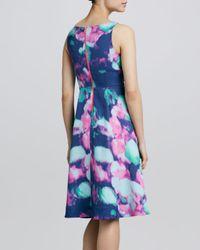 kate spade new york - Blue Olivia Floralprint Dress - Lyst