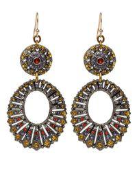Lulu Frost - Yellow Crystal Roma Earrings - Lyst