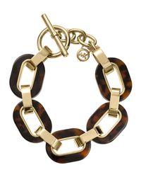 Michael Kors | Metallic Link Bracelet Goldentortoise | Lyst